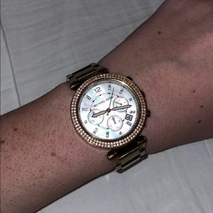 MICHAEL KORS Stainless Steel Rose Gold watch